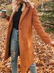 Casual Patchwork Shawl Collar Outerwear