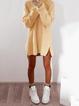 Fluffy Zipper Long Sleeve Casual H-line Sweater