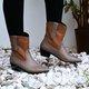 Women's Simple Printed Zipper Daily Winter Low Heel Boots