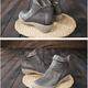 Low Heel Leather Boots
