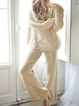 Solid Knitted Long Sleeve Knitted Suits