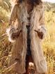 Khaki Wool Long Sleeve Tribal Outerwear