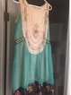 Women Green Sleeveless Round Neck Dresses