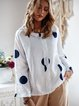 Women Polka Dots Blouses Long Sleeve Printed Casual Plain Blouses