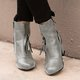 Zipper Decorative Chunky Heel Ankle Boots