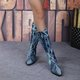 Women's casual denim chunky boots
