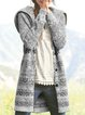 Plus Size Boho Hoodie Long Sleeve Casual Outerwear