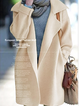 Long Sleeve Casual One-Buttoned Shawl Collar Coats