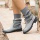 Brown Pu Winter Boots