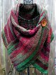 Women's  Casual Multicolor Stripes  Round Neck Scarves & Shawls
