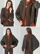Multicolor Long Sleeve Ombre/tie-Dye Outerwear