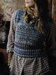 Sleeveless Knitted Crew Neck Sweater