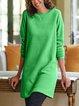 Crew Neck Women Dresses Daily Paneled Dresses