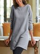 Crew Neck Women Dresses Daily Paneled Dresses