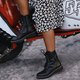 Black Daily Chic Martin Boots