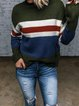 Color-Block Crew Neck Long Sleeve Sweater