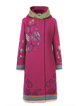 Pink Paneled Cotton-Blend Long Sleeve Floral Outerwear