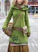 Hoodie Cotton-Blend Long Sleeve Outerwear