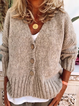 Buttoned Casual Outerwear