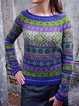 Printed Vintage Knitted Sweater