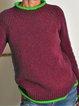 Crew Neck Long Sleeve Plus Size Sweater