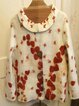 Vintage Floral Printed Peter Pan Collar Buttoned Long Sleeve Outerwear