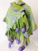 Green Floral Casual Scarves & Shawls