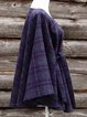Navy Blue Casual Checkered/plaid Scarves & Shawls