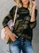 Army Green Long Sleeve Casual plus size Sweater