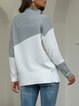 Turtleneck Cotton Shift Casual Sweater