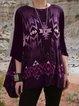 Black Cotton-Blend Vintage Shirts & Tops