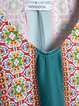 Women Floral V Neck Shift Boho Dresses