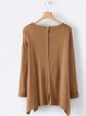 Casual Long Sleeve Solid plus size Sweater