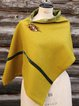 Yellow Casual Cotton-Blend Scarves & Shawls