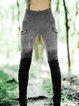Vintage Sheath Paneled Ombre/tie-Dye Pants