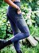 Vintage  Casual Paneled Sheath Pants