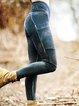 Sheath Vintage Abstract Paneled Pants