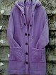 Vintage Buttoned Plain Knitted Outerwear
