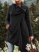 Asymmetrical Long Sleeve Cowl Neck Casual Outerwear