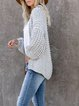 Grey Long Sleeve Knitted plus size Outerwear