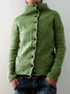 Knitted Casual Plain Sweater