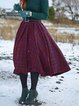 Casual Cotton-Blend Checkered/plaid Skirts