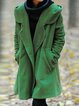 Shawl Collar Solid Casual Outerwear