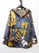 Long Sleeve Hoodie Leaf Coat