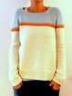 Plus Size Sweater Long Sleeve Crew Neck Knit Tops