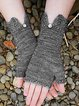 Simple & Basic Knitted Plain Gloves & Mittens