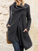 Plus size thick warm side button Cotton Casual Outerwear