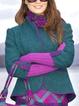 Green Wool Blend Casual Long Sleeve Outerwear