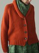Red Vintage Cotton-Blend Buttoned Outerwear