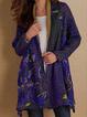 Autumn Casual Vintage Basic Printed Long Coat